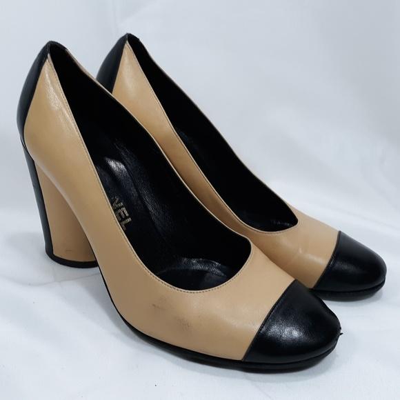 542f10c5d4 CHANEL Shoes   Classic Cap Toe Heels Size 395 9   Poshmark
